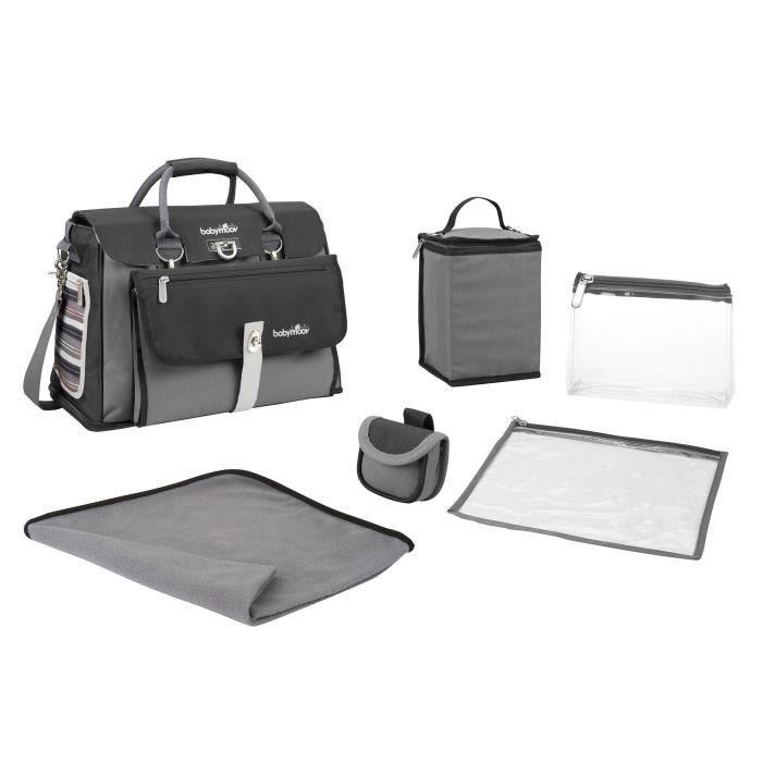 babymoov sac langer free hand noir zinc noir et zinc. Black Bedroom Furniture Sets. Home Design Ideas