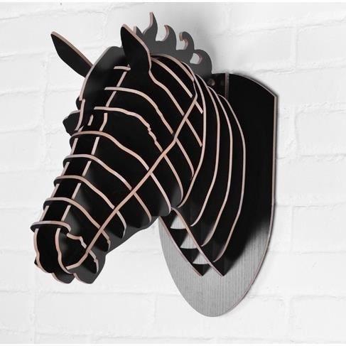 t te de cheval bois maquette 3d en bois equitation luxe rare art et d co loft d coration achat. Black Bedroom Furniture Sets. Home Design Ideas