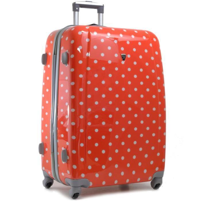 valise pois extensible 70cm orange achat vente valise bagage valise pois extensible. Black Bedroom Furniture Sets. Home Design Ideas