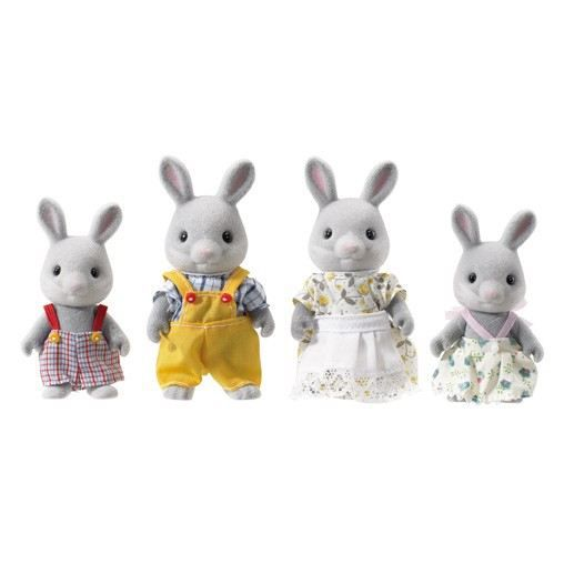 sylvanian families famille lapin gris achat vente figurine personnage cdiscount. Black Bedroom Furniture Sets. Home Design Ideas
