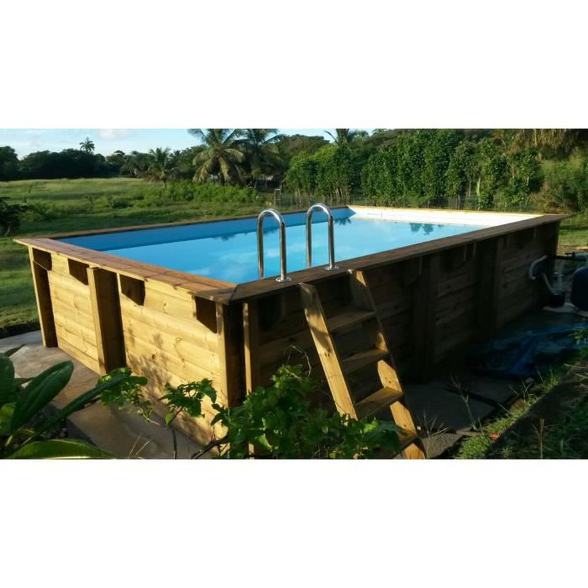 Piscine bois nortland ubbink samoa 430 cm x 300cm x 126cm for Liner piscine diametre 3 50