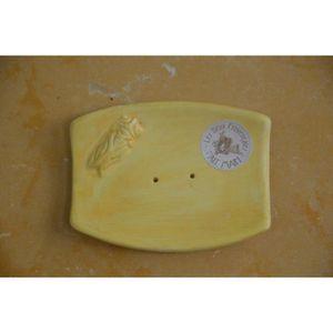 porte savon rectangulaire artisanal fait main jaune achat vente distributeur de savon porte. Black Bedroom Furniture Sets. Home Design Ideas