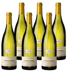 VIN BLANC Mercurey Blanc Buissonnier 2015 cave de Buxy x6 75