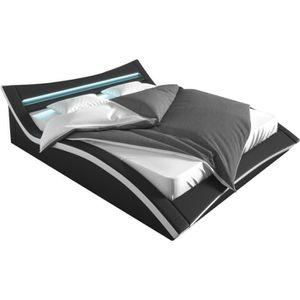 lit adulte design achat vente lit adulte design pas cher cdiscount. Black Bedroom Furniture Sets. Home Design Ideas