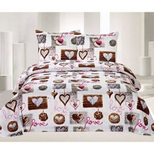 parure housse de couette pour lit 160x200 achat vente parure housse de couette pour lit. Black Bedroom Furniture Sets. Home Design Ideas