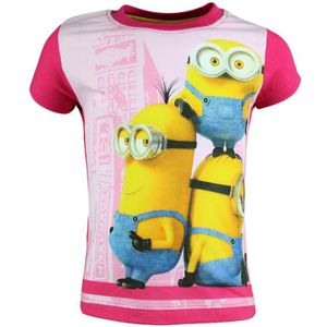 t shirt t shirt manches courtes minions fille oops
