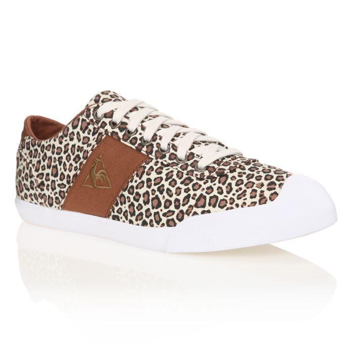 le coq sportif baskets lilas leopard femme femme marron blanc achat vente le coq sportif. Black Bedroom Furniture Sets. Home Design Ideas
