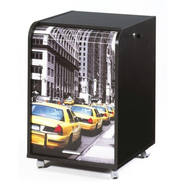 caisson de bureau 2 tiroirs 47 2 cm noir taxis jaunes achat vente caisson de bureau. Black Bedroom Furniture Sets. Home Design Ideas