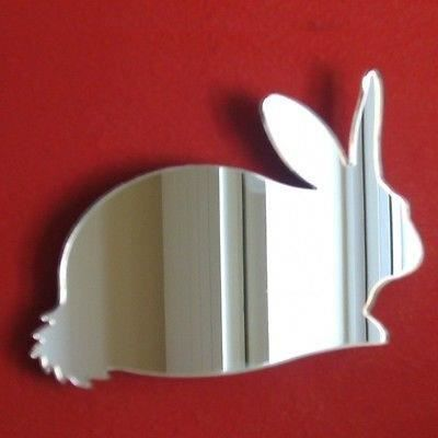 Miroir de lapin en acrylique 35 cm x 26 cm achat for Miroir acrylique incassable