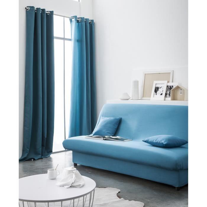 today housse de clic clac 135x195 mer du sud achat. Black Bedroom Furniture Sets. Home Design Ideas