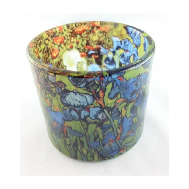 Photophore Bougeoir En Verre Les Iris De Van Gogh Achat Vente Photophore Lanterne Cdiscount