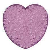 MOULE  Pavoni Moule silicone Coeur motif fleurs FRT163