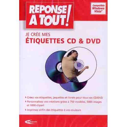 je cree mes etiquettes cd dvd logiciel pc cd r achat vente jeux pc je cree mes. Black Bedroom Furniture Sets. Home Design Ideas
