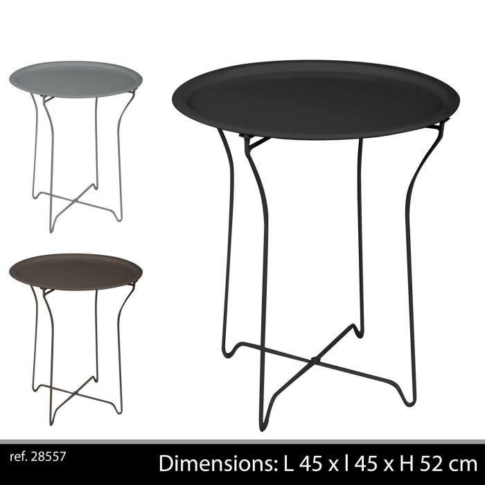 couleur taupe table en metal bar appoint pliante pliable camping portable jardin exterieur. Black Bedroom Furniture Sets. Home Design Ideas
