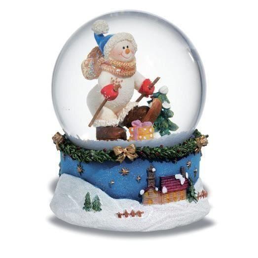 boule de neige figurine bonhomme de neige achat vente statue statuette cdiscount. Black Bedroom Furniture Sets. Home Design Ideas