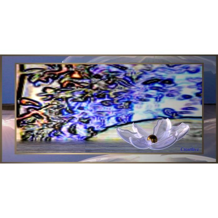 tableau verre acrylique jardin imaginaire achat vente tableau toile cdiscount. Black Bedroom Furniture Sets. Home Design Ideas