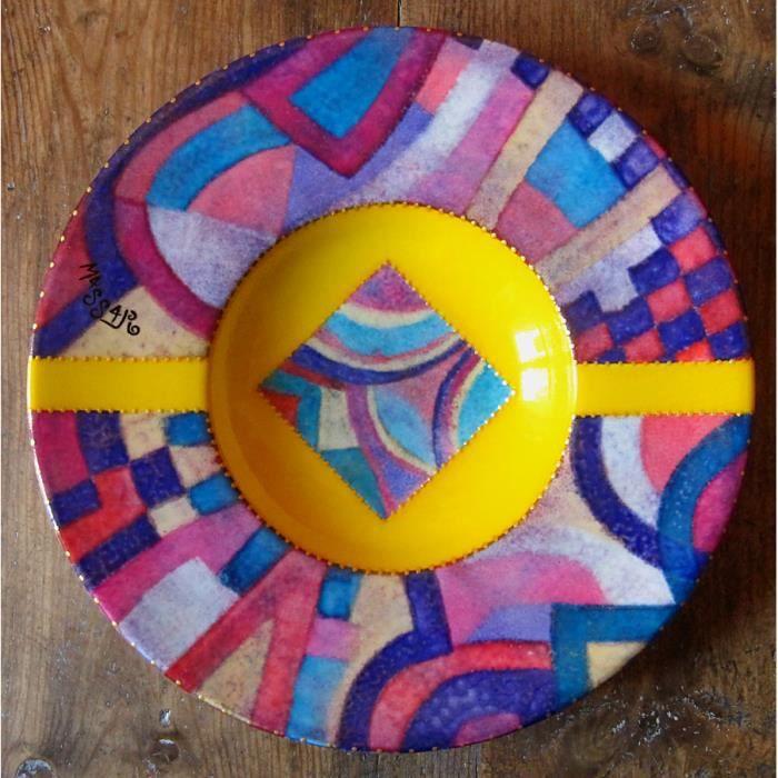 Objet d coratif en porcelaine peint a la main achat for Objets decoratifs