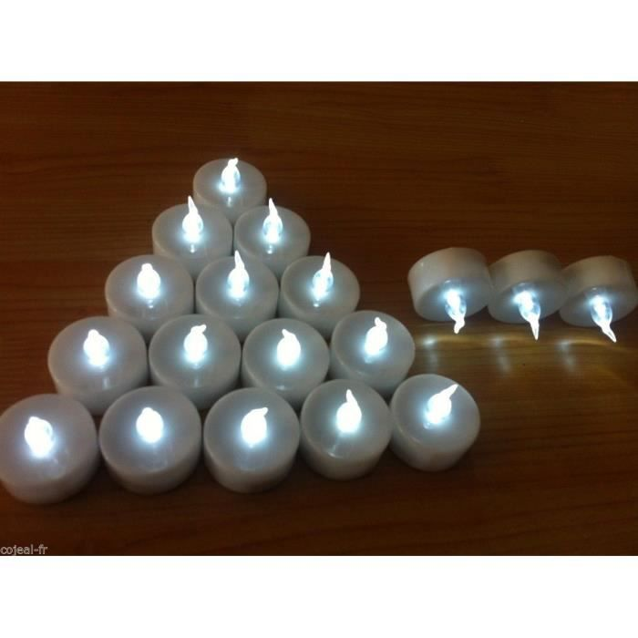 12 bougies led blanche sans flamme achat vente 12 bougies led blanche sans cdiscount. Black Bedroom Furniture Sets. Home Design Ideas