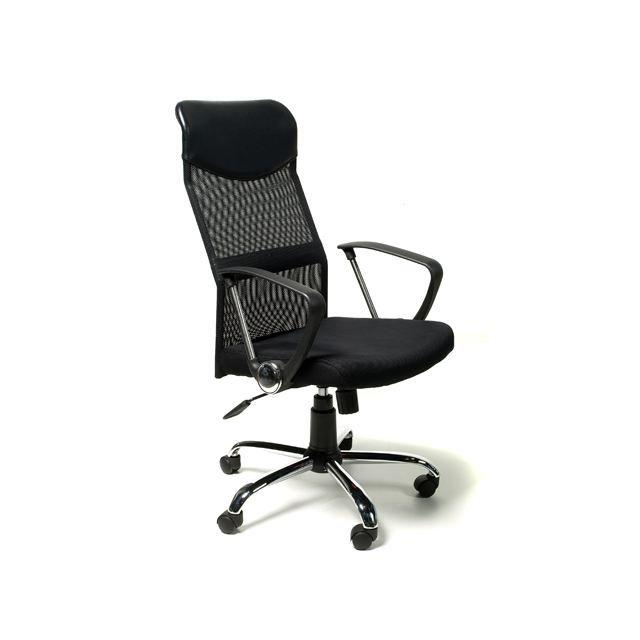 Fauteuil de bureau noir r sille achat vente chaise de - Fauteuil de bureau lena ...