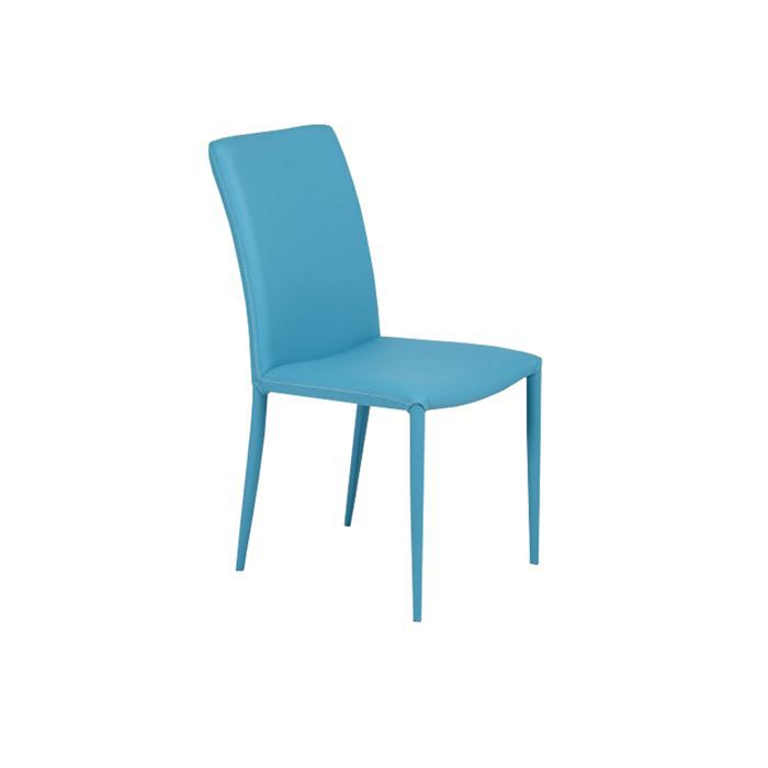 Chaise de cuisine turquoise for Chaise bleu turquoise