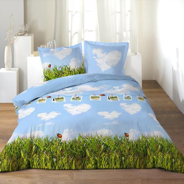 housse de couette 220x240 2 taies l amour coc achat. Black Bedroom Furniture Sets. Home Design Ideas