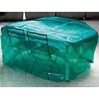 Housse luxe salon de jardin pour table ronde achat vente housse meuble jardin housse luxe for Housse de salon de jardin carrefour
