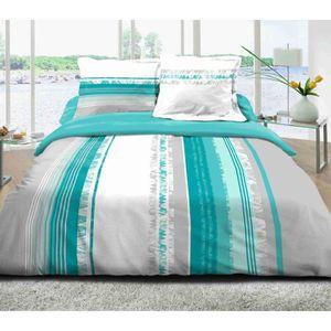 parure de lit pour lit 160 200 achat vente parure de lit pour lit 160 200 pas cher cdiscount. Black Bedroom Furniture Sets. Home Design Ideas