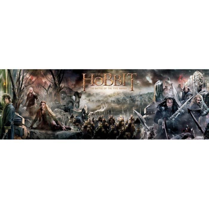Le hobbit poster de porte collage 53 x 158 cm achat for Porte hobbit