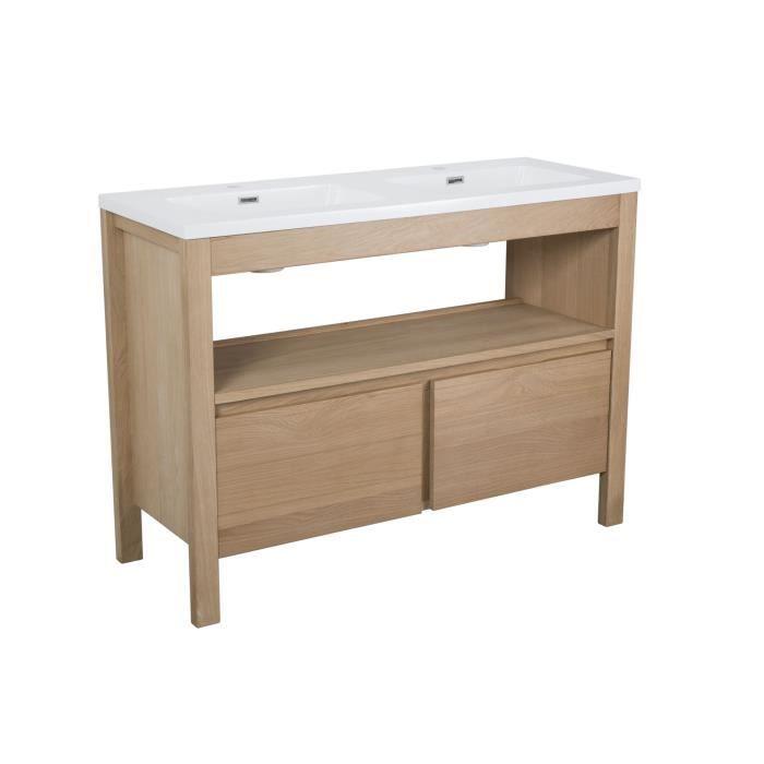 Luxor meuble de salle de bains en plaqu ch ne 120cm for Plaque de salle de bain