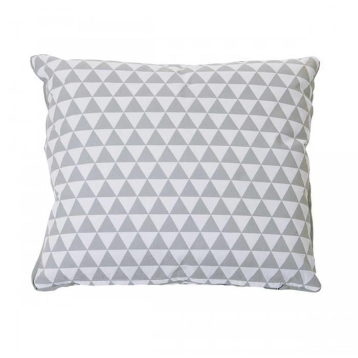 coussin design carr triangles couleur gris cl achat vente coussin cdiscount. Black Bedroom Furniture Sets. Home Design Ideas