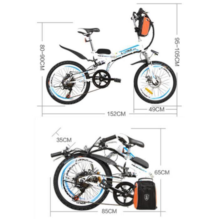 7 vitesse 36v 15a 250 w 20 pouces v lo pliant forte puissance batterie - Velo electrique en solde ...