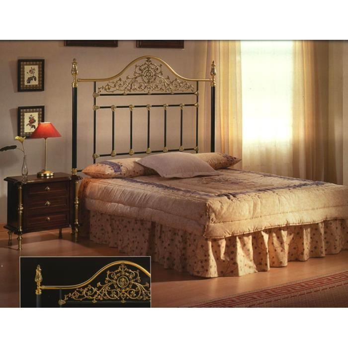 Lits et t tes de lit en laiton et fer forg mod le metz - Tete de lit fer forge pas cher ...