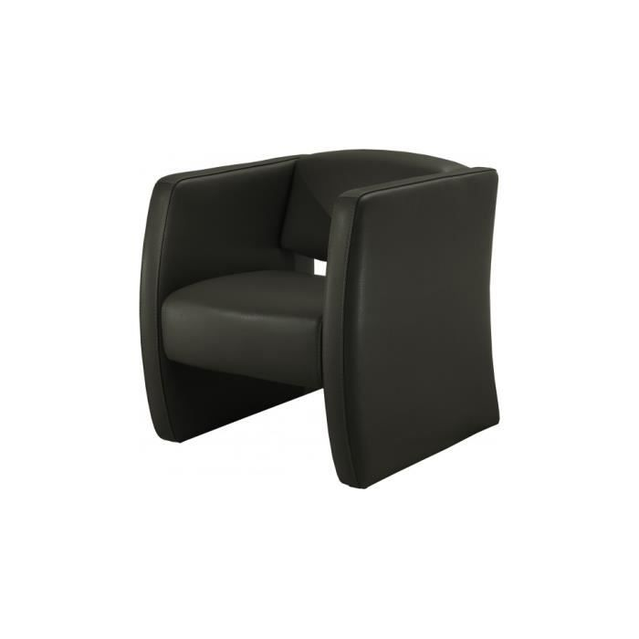 fauteuil cuir contemporain soren gris anthracite achat. Black Bedroom Furniture Sets. Home Design Ideas