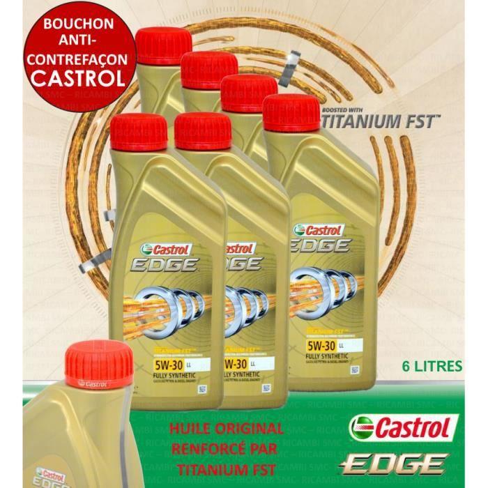 6 litres castrol edge 5w30 titanium fst vw 504 00 achat vente huile moteur 6 litres castrol. Black Bedroom Furniture Sets. Home Design Ideas