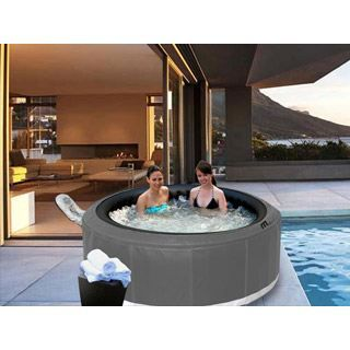 Spa gonflable castello rond 6 places gris argen achat vente spa complet - Spa gonflable discount ...