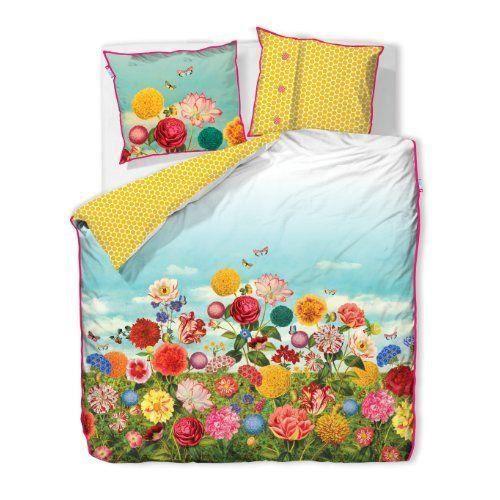 Pip studio 26002140002 housse de couette wild flowerland - Housse de couette fluo ...