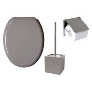 SERVITEUR WC GELCO Lot 3 pièces WC Sweet taupe