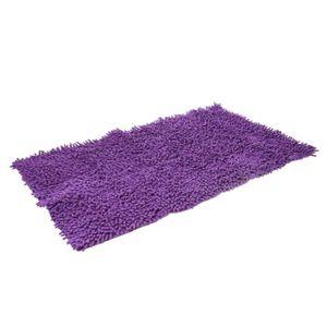 TAPIS DE BAIN  Tapis salle de bain chenille violet