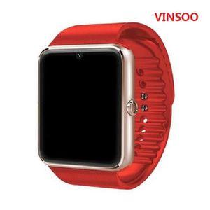 MONTRE VINSOO®(red)GT08 Smart Watch Sync Notifier Support