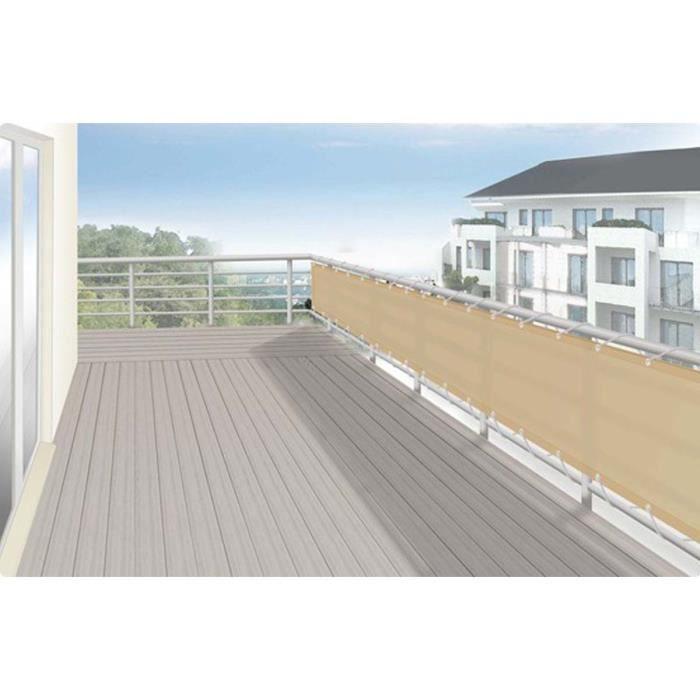 Brise vue pour balcon ou jardin design 75 x 500 cm couleur - Brise vue design jardin ...