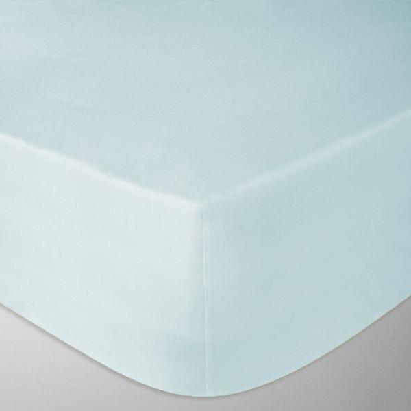 drap housse flanelle 160x200 cm couleur bleu clair fabrication portugaise achat vente drap. Black Bedroom Furniture Sets. Home Design Ideas