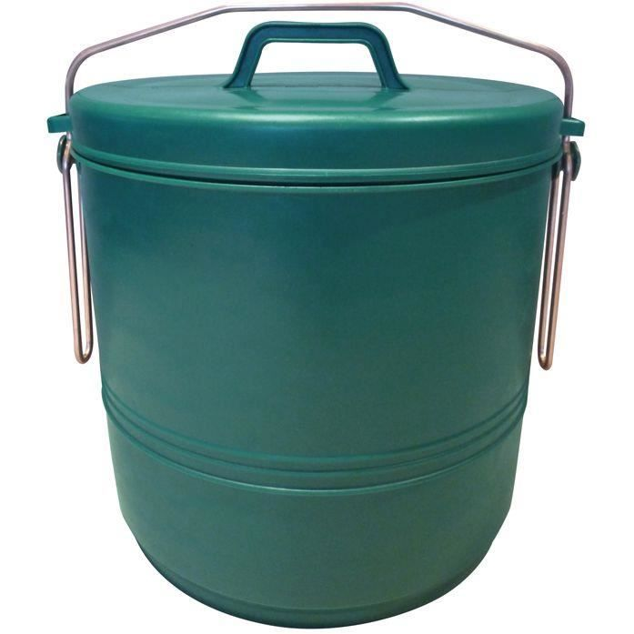 Aluminium et plastiq poubelle compost 16l verte achat for Poubelle compost pour cuisine