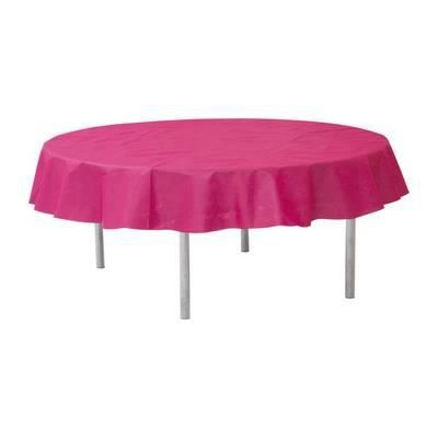 Nappe ronde intiss fuschia achat vente nappe de table - Nappe fushia table ...