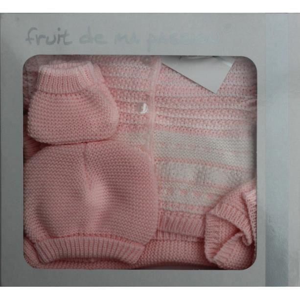 coffret naissance bebe cn4p rsbcpullry 0 3 mois rose et blanc achat vente coffret cadeau. Black Bedroom Furniture Sets. Home Design Ideas