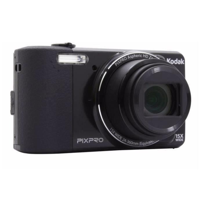 kodak fz151 appareil photo num rique noir achat vente appareil photo compact les soldes. Black Bedroom Furniture Sets. Home Design Ideas