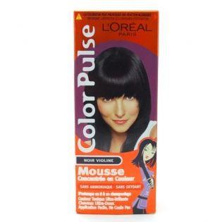 coloration loreal color coloration color pulse noir violine - Coloration Violine Sur Cheveux Noir