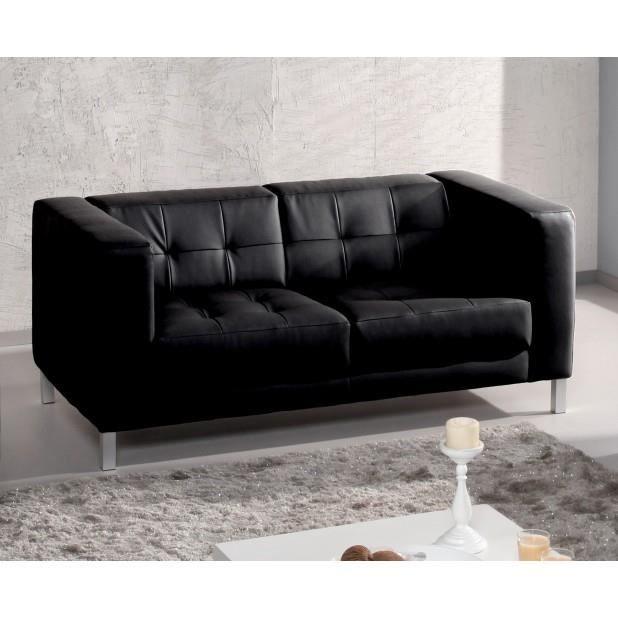 canap capy 2 3 places couleur noir achat vente canap sofa divan cdiscount. Black Bedroom Furniture Sets. Home Design Ideas