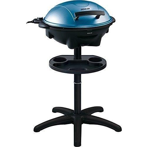 sencor 41000067 2 en 1 barbecue electrique sur pieds table bleu 2400 w achat vente grill. Black Bedroom Furniture Sets. Home Design Ideas