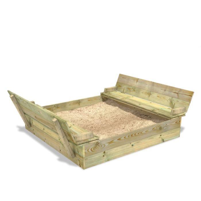bac sable avec couvercle flippey 130x165cm achat. Black Bedroom Furniture Sets. Home Design Ideas
