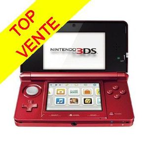 CONSOLE 3DS CONSOLE 3DS ROUGE METAL